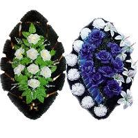 Венки из искусственных цветов 70, 90