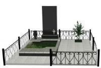 Оградки на кладбище сварные, кованные