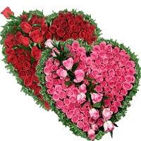 Сердце из натуральных цветов