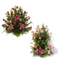 Корзины траурная из натуральных цветов