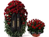Венки и композиции из живых цветов