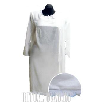 Белье ритуальное. Сорочка ситцевая погребальная