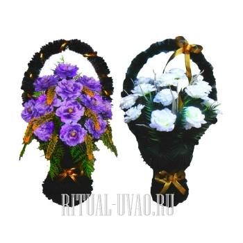 Две корзины на могилу на похороны искусственные
