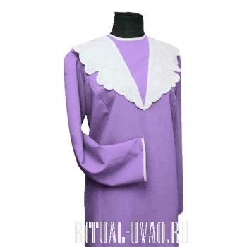 Габардиновое платье - отделка бейка