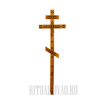 """Крест """"Декорированный светлый"""""""