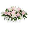 Флоретка нежно-розового цвета на гроб
