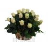 Небольшая похоронная корзина с белыми Розами
