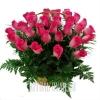 Корзина из живых розовых Роз