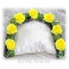 Веночек на подушку в гроб из цветов