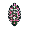 Венок розовый из гвоздик, лилий, хризантем