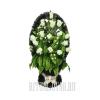 """Красивая корзина """"Белые Розы"""" на могилу"""