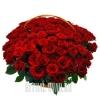 120 или 150 шикарных Роз в похоронной корзине