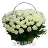 Роскошная корзина на похороны из белых Роз