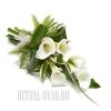 Букет из живых цветов на могилу