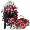 Набор - Роскошный венок с корзиной на похороны