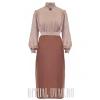 Платье-Халат ситцевое с воротником