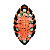 Похоронный венок оранжевого цвета