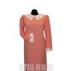 Платье с вышитым воротником и манжетами