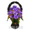 Искусственная ритуальная корзина фиолетового цвета