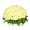 Элитная корзина с натуральными белыми Розами