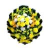 """Венок на похороны """"Круг"""" желтого цвета"""