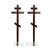 Обновление двух крестов на могиле