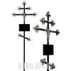 Замена двух крестов в ограде