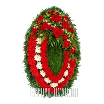 Венок искусственный на обряд похорон