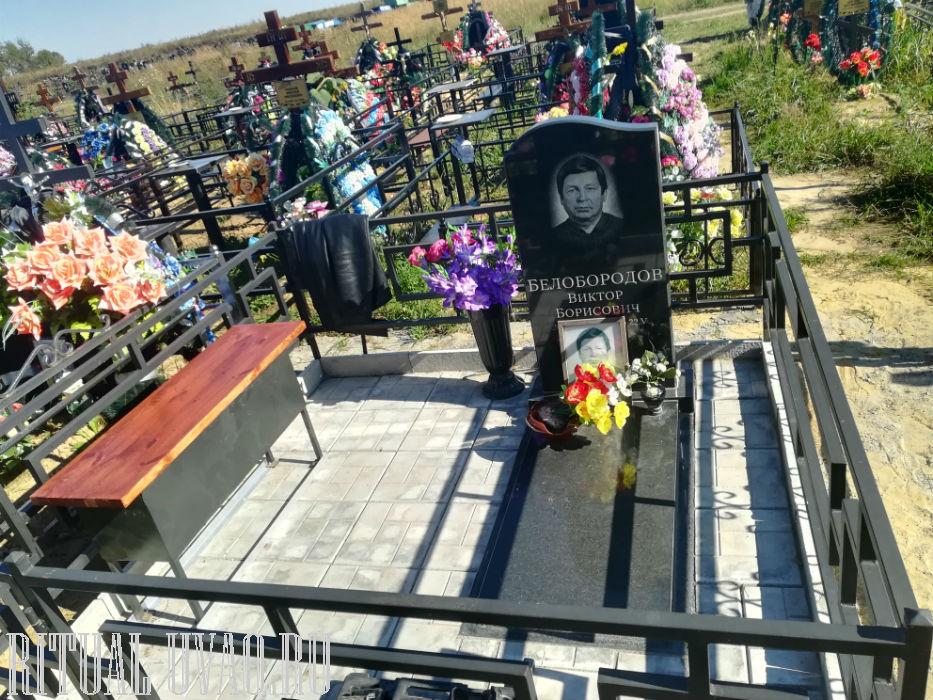 Бордюр, на могилу, тротуарная плитка, скамейка