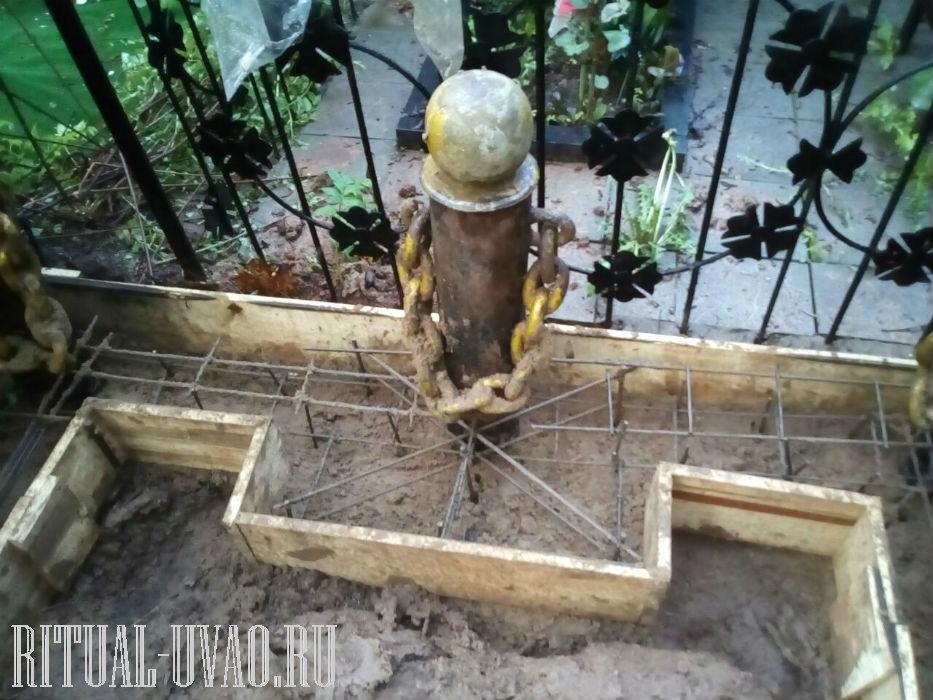 Переустановка просевшей ограды