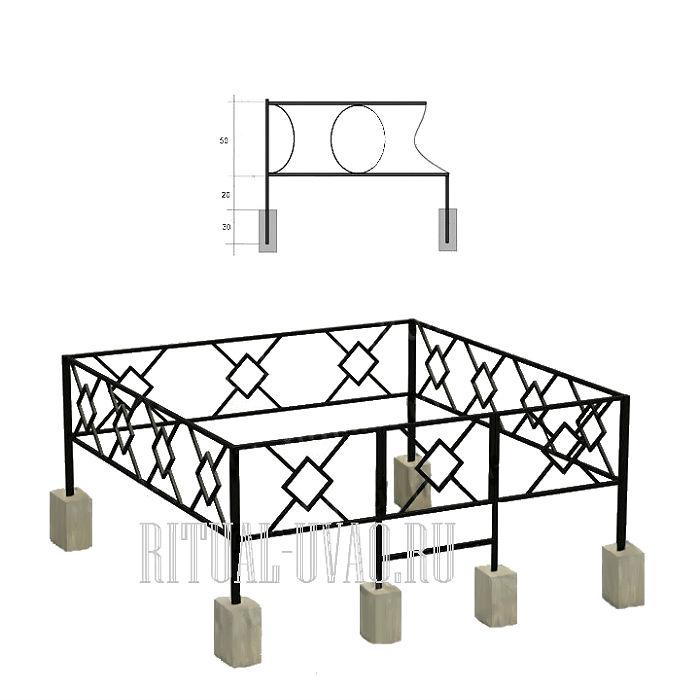 Установка ограды на кладбище изготовление памятника на могилу цены крымиз черного