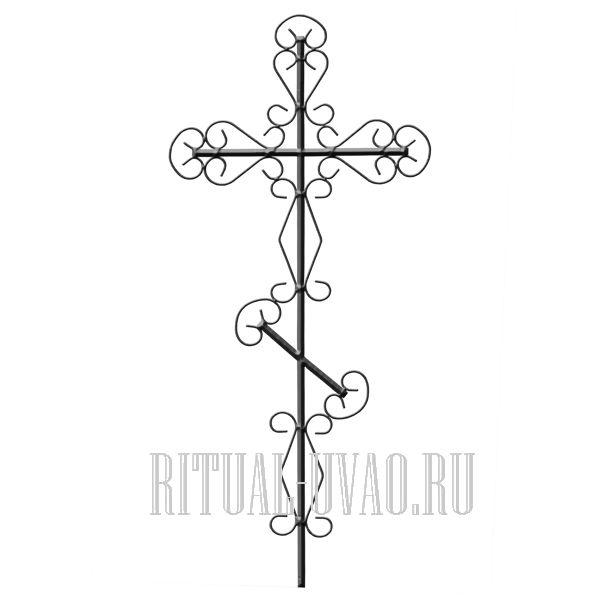 Крест на могилу  из металла размеры фото 4