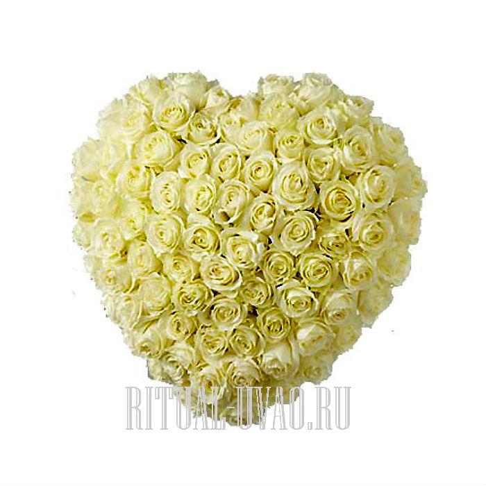 Сердечко из 18 Роз Гипсофиллом