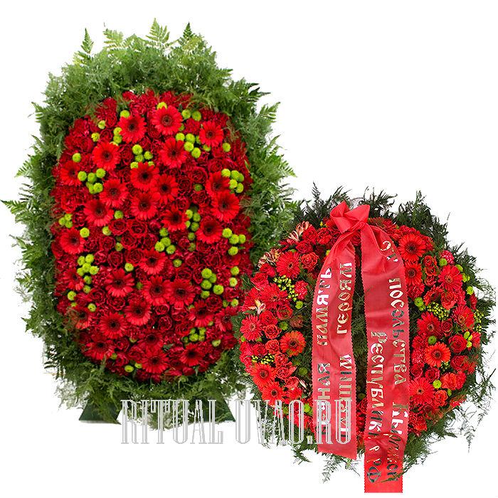 Венки и корзины. Живые розы на похороны.