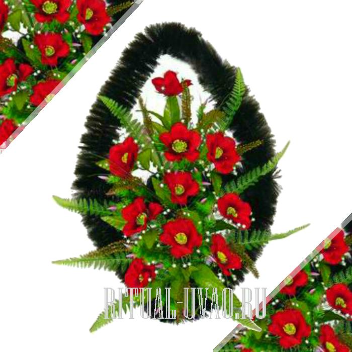 Венок из искусственных цветов на заказ
