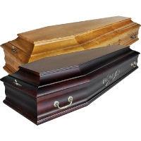 Недорогие полированные гробы - шестигранники