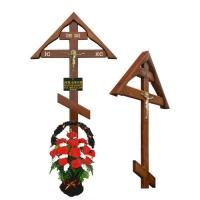 Обновление могилы - корзина, крест, табличка