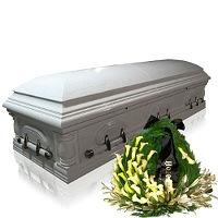 Итальянские, лакированные, двухкрышечные гробы