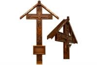 Кресты на могилу.  Металл, дуб, сосна