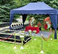 Обустройство места прощания на кладбище на похороны