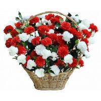 Корзины с живыми цветами