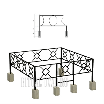 Установка ограды на столбики
