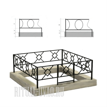 Установка ограды в цоколь