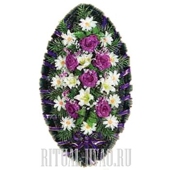 Глубокий величавый похоронный венок