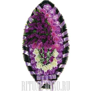 Барственный густо-лиловый похоронный венок