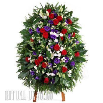 Венки из натуральных цветов на возложение