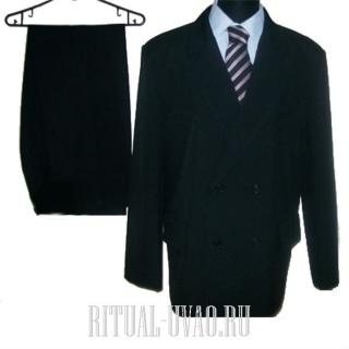 Мужской костюм на подкладе черный