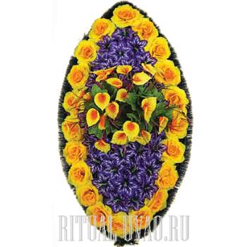 """Венок из искусственных цветов """"Золотая нива"""""""