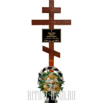 """Обновление могилы - набор № 3 с крестом """"Виноград с голубкой"""""""