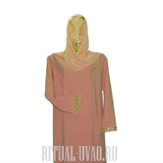 Платье с шифоновым шарфом на голову